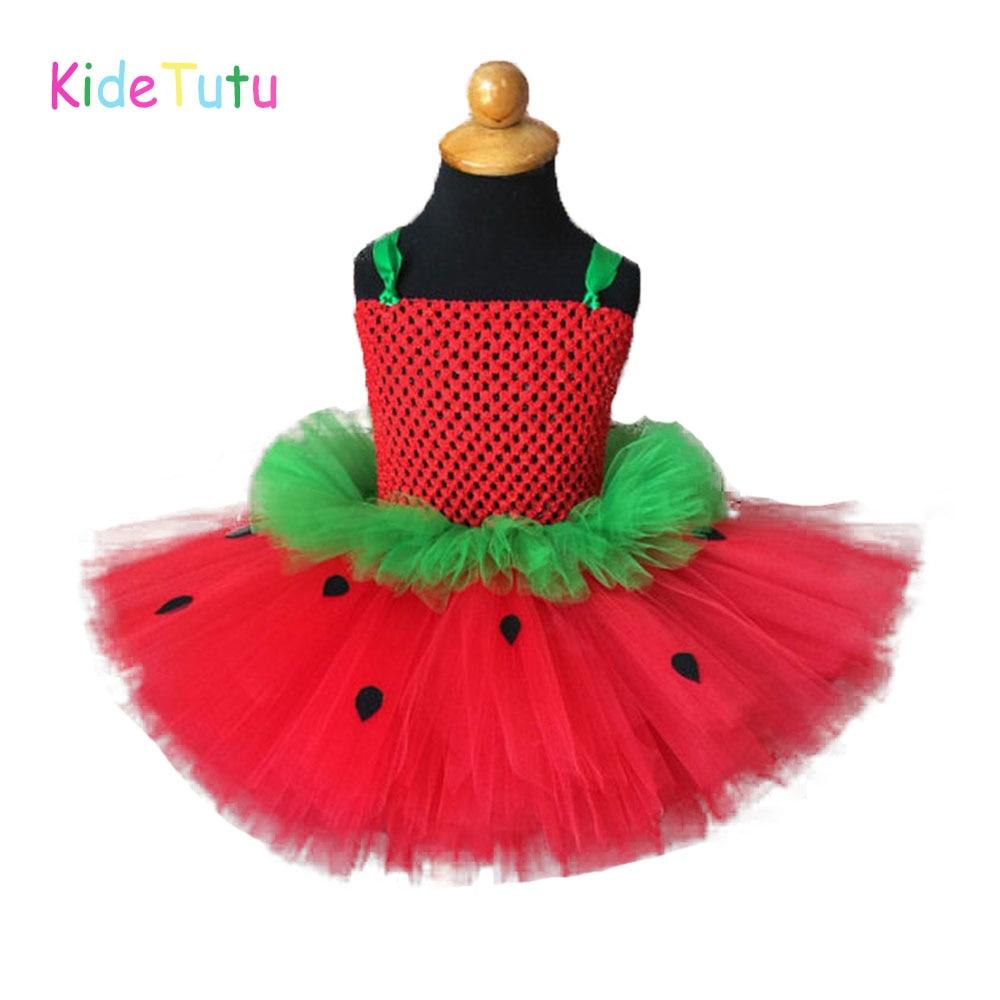 Vestido tutu infantil verde ou vermelho, morango, inspire, para meninas, bebês, festa do primeiro aniversário, foto, adereços, carnaval, fantasia
