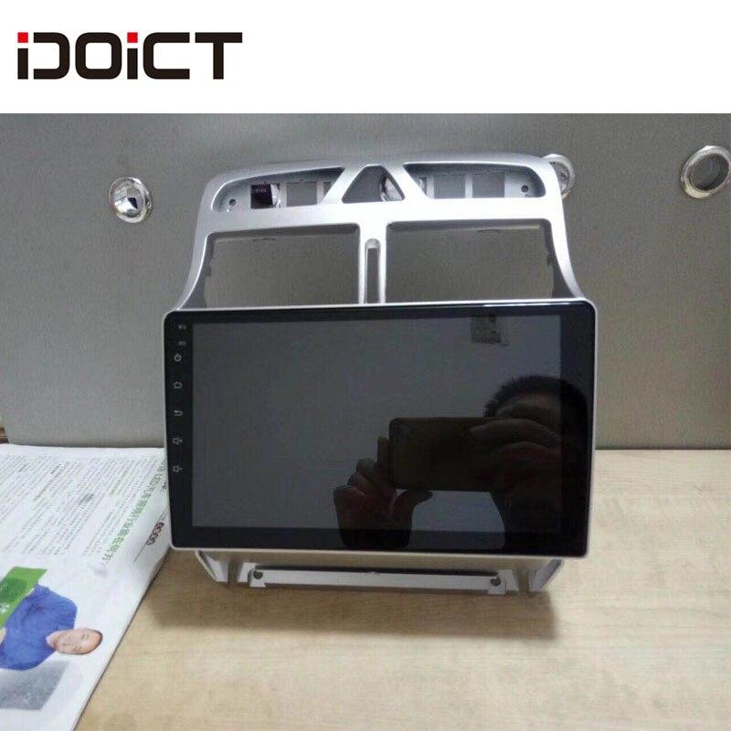 IDOICT Android 8.1 IPS 2G + 32G lecteur DVD de voiture GPS Navigation multimédia pour peugeot 307 Radio 2002-2013
