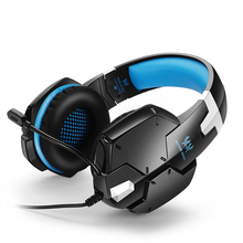 KOTION EACH G1200 Internet Cafe Gaming Headset Wired Volume Control Stereo Game Headphones With Microphone