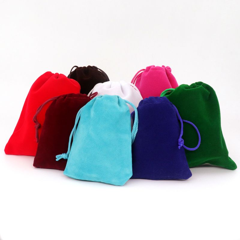 10PCS Mixed Color Velvet Drawstring Bags Jewelry Pouches Gift Bags And Packaging For Party Wedding Engagement DIY Accessorie