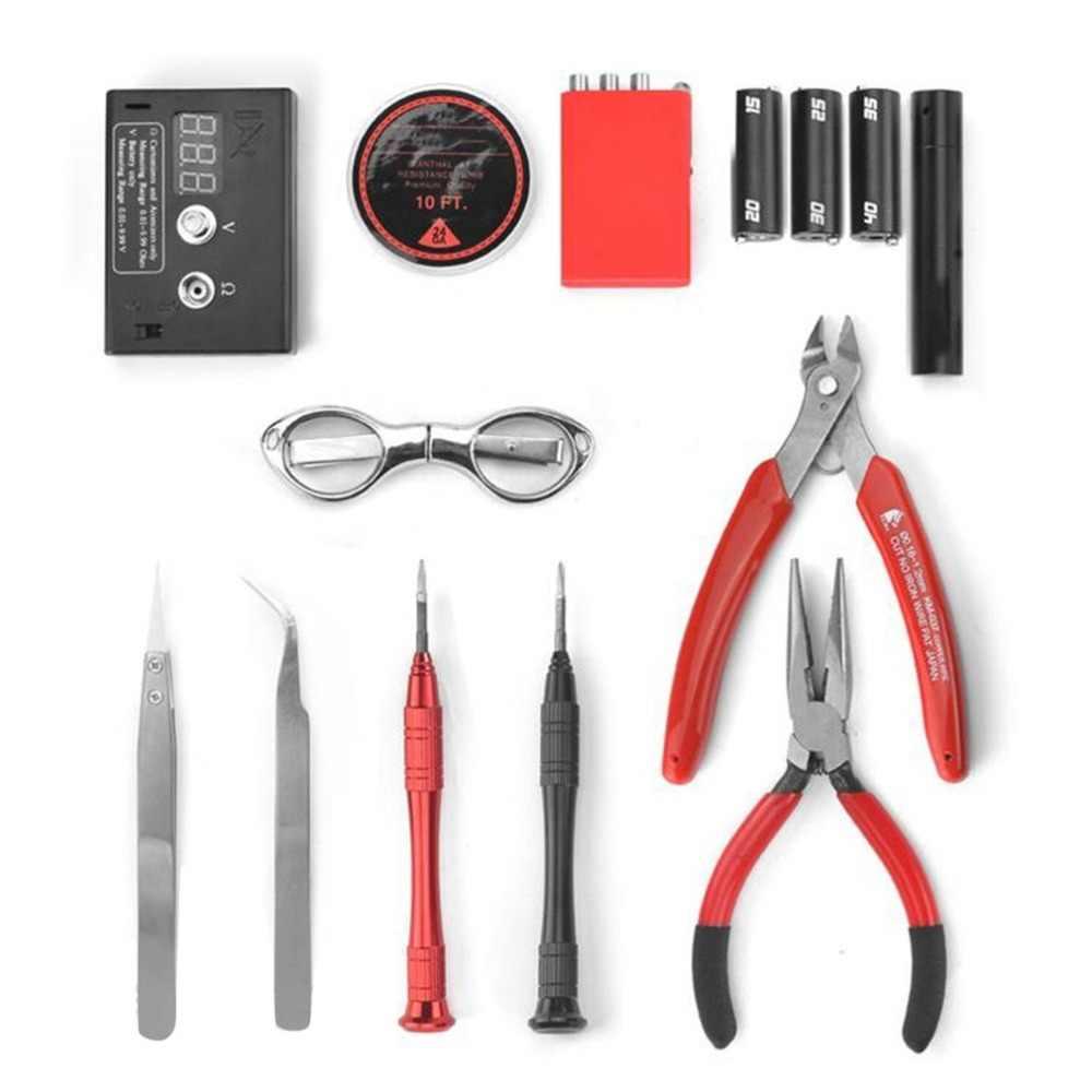 13 pçs/set atualização bobina mestre diy kit all-in-one coilmaster v3 + cigarro eletrônico rda atomizador bobina ferramenta saco acessórios