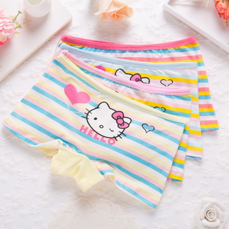 4pcs/lot Girls Children Underwear Kids 2-9 Year Cartoon Cotton Briefs  Girl Panties Boxer Children Clothing Girls Underwear