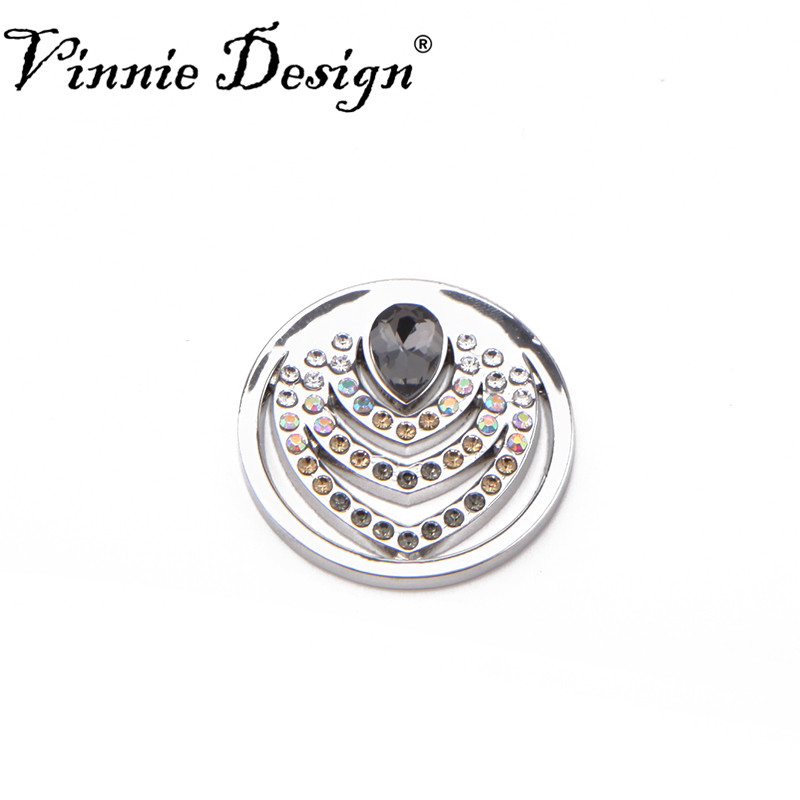 Vinnie Design Jewelry Pera Brown Medium Coin for 35mm Frame Pendant Coin Locket ...