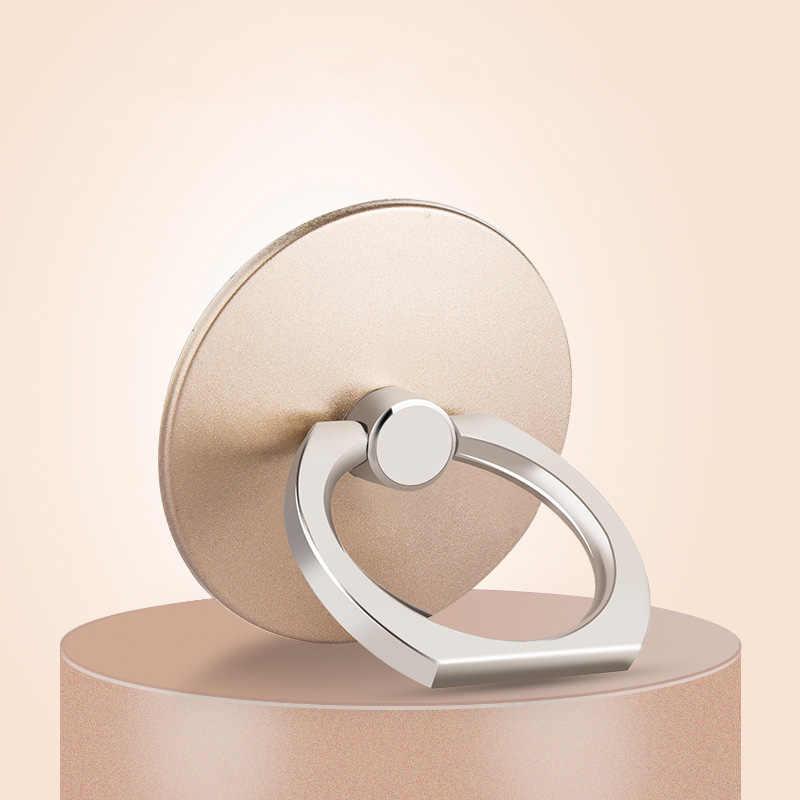Jari Cincin Ponsel Stand Smartphone Holder untuk iPhone Smart Phone 360 Derajat Ring Dering Logam Universal Socket Zsmzzy
