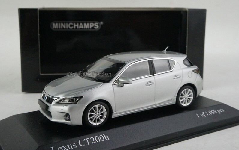 Silver 1/43 Minichamps LEXUS CT200h CT200 Diecast Mannequin Automobile Aluminum Die casting Merchandise Mini Vehicles A number of Colours