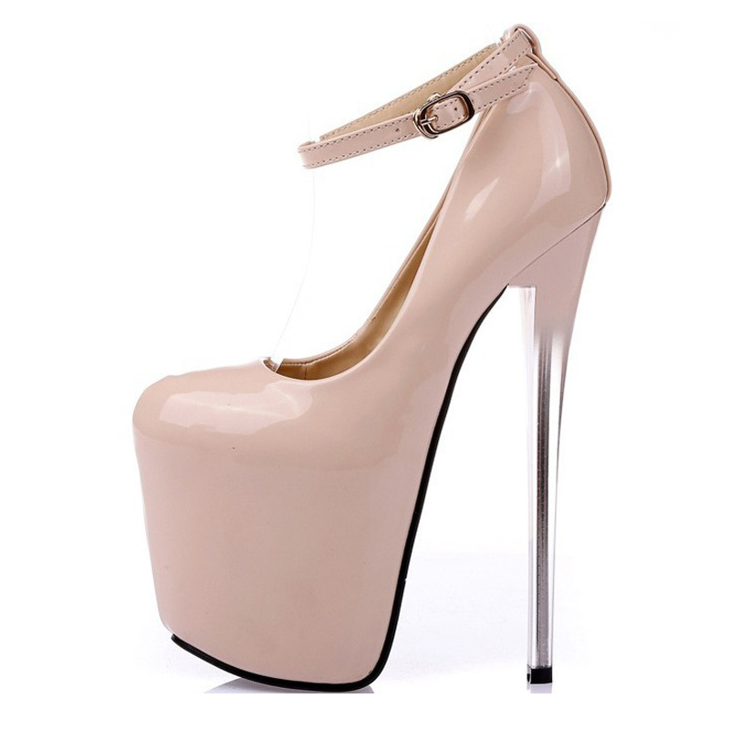 Sexy High Heel Shoes Gladiator Women Platform Pumps Pointed Toe Heels Wedding Shoes Stiletto19cm Leather Women Party Shoes 44-47 lasyarrow brand shoes women pumps 16cm high heels peep toe platform shoes large size 30 48 ladies gladiator party shoes rm317