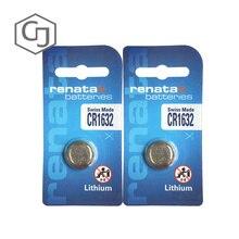 2 шт./лот renata CR1632 CR 1632 3v литиевая батарея с дистанционным управлением, автомобильные дистанционные аккумуляторные весы, батарейка для материнской платы
