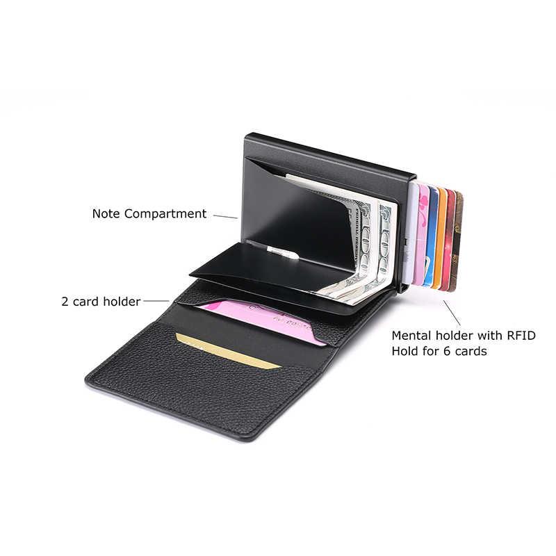 BISI GORO Новое поступление мягкий кожаный кошелек RFID Блокировка ID Держатель карты многофункциональная Высококачественная сумка для денег 3 карта цветов Чехол