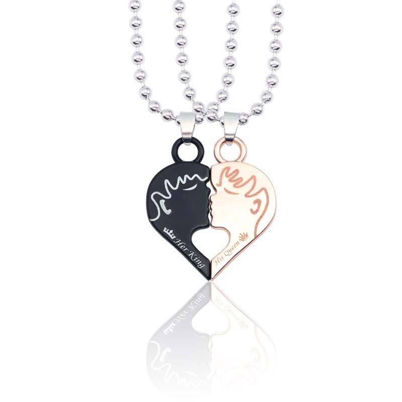 Trendy Necklace Simple Necklace Creative Pendant Personality Accessories Wild Pendants Gifts Couples