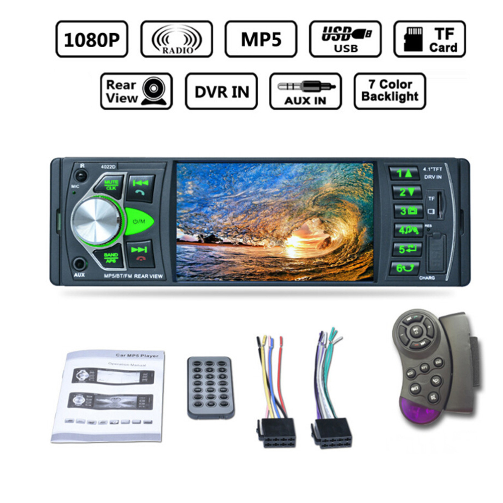 4022D Car Radio Music Player with Remote Control with Rear View Camera Support Bluetooth MP5/MP4/MP3/FM Transmitter Car Video велосипедное седло velo vl 4022 спорт комфорт 245x170мм черное vl 4022