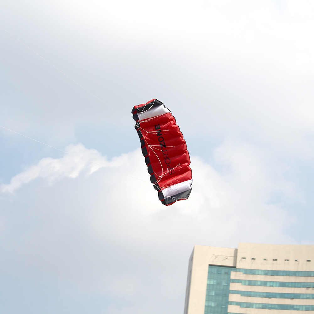 180 см * 65 см двойной линии парашютный трюк кайт с летающими инструментами воздушный змей-параплан открытый пляж веселые спортивные игрушки для детей