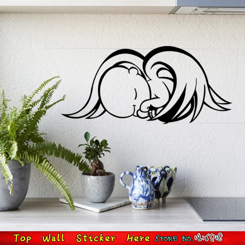 Waterproof Lovely Baby Angel Wall Sticker Home Bathroom Bedroom Decoration Wall Decals Removable Car Stickers Mural