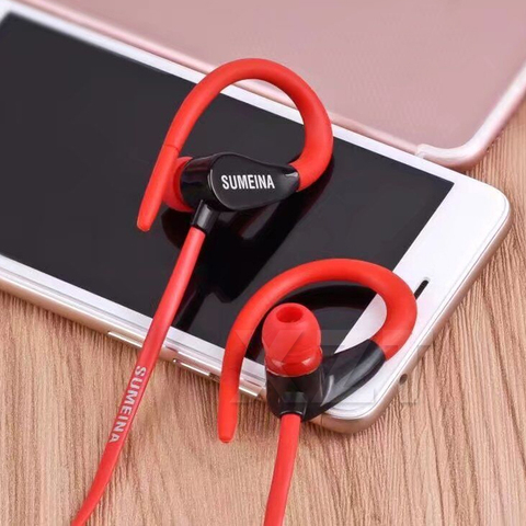 Earphones 3.5mm Headsets With Built-in Microphone Earhook Wired  Sport Earphone For iPhone X SMN-11 Samsung Smartphones Xiaomi Lahore