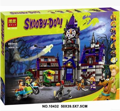 New Bela 10432 Scooby Doo Mysterious Ghost House 860pcs Building Block Toys Compatible Any Blocks gift BOY