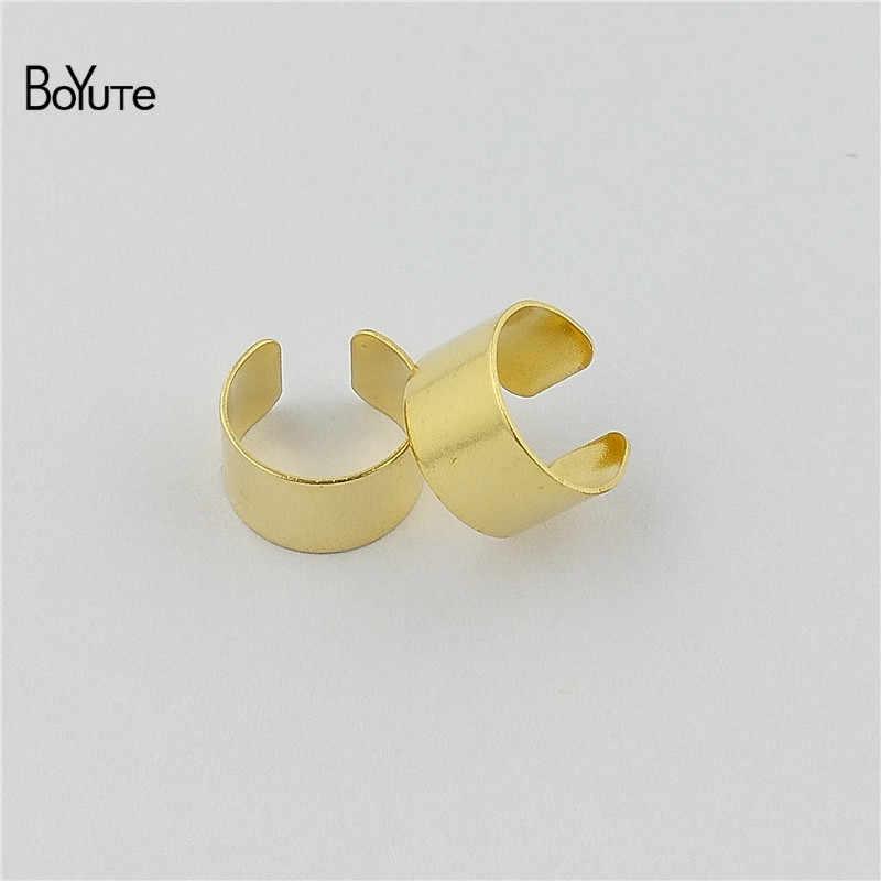 BoYuTe (10 أجزاء/وحدة) بسيطة معدن عادي النحاس الفولاذ المقاوم للصدأ الأذن الكفة أقراط مجوهرات قابل للتعديل الأذن الكفة