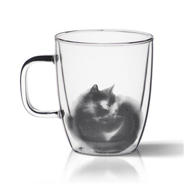 Double Wall Glass Cups Of Coffee Mugs Tea Cup Water Big