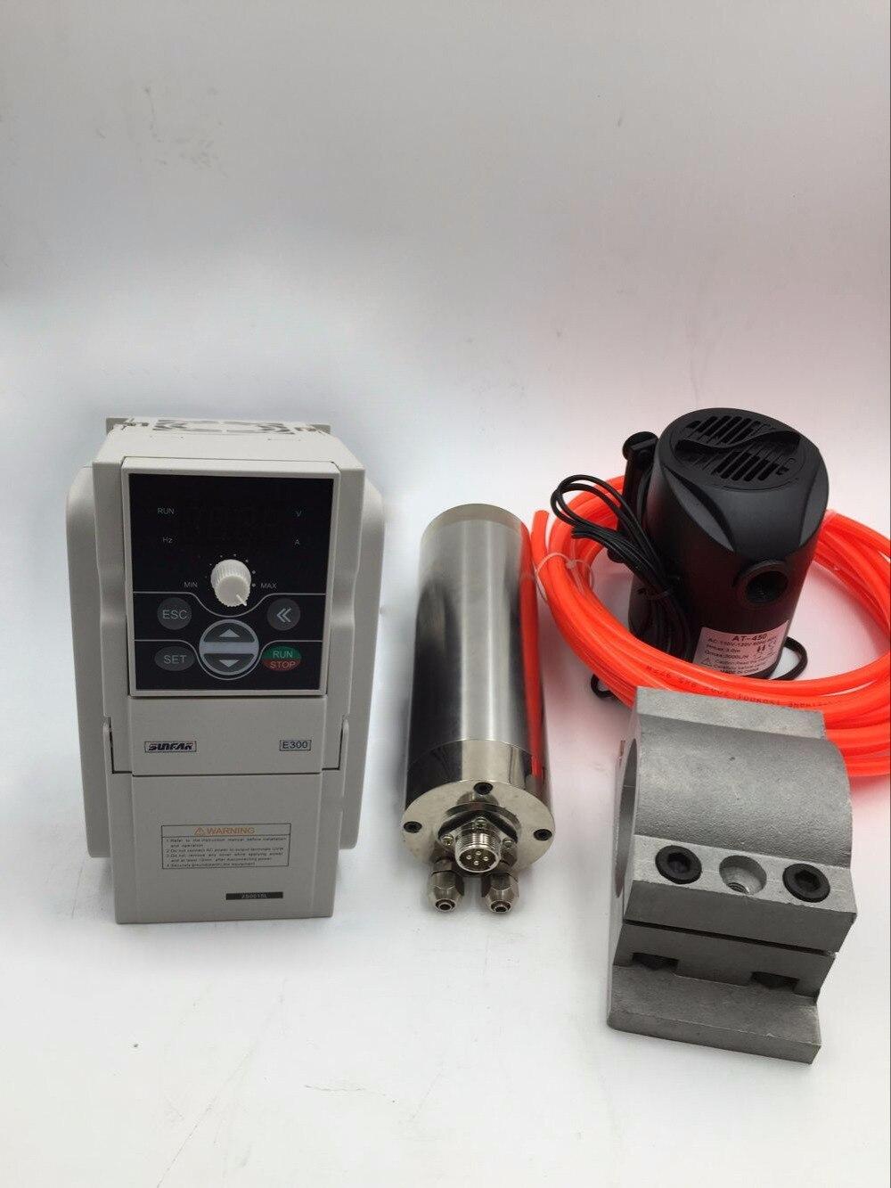 Шпиндель с водяным охлаждением  60000 об/мин  высокая скорость ER11 + 1 5 кВт VFD инвертор  драйвер  1 фаза  220 В фрезерный станок с ЧПУ  сверление