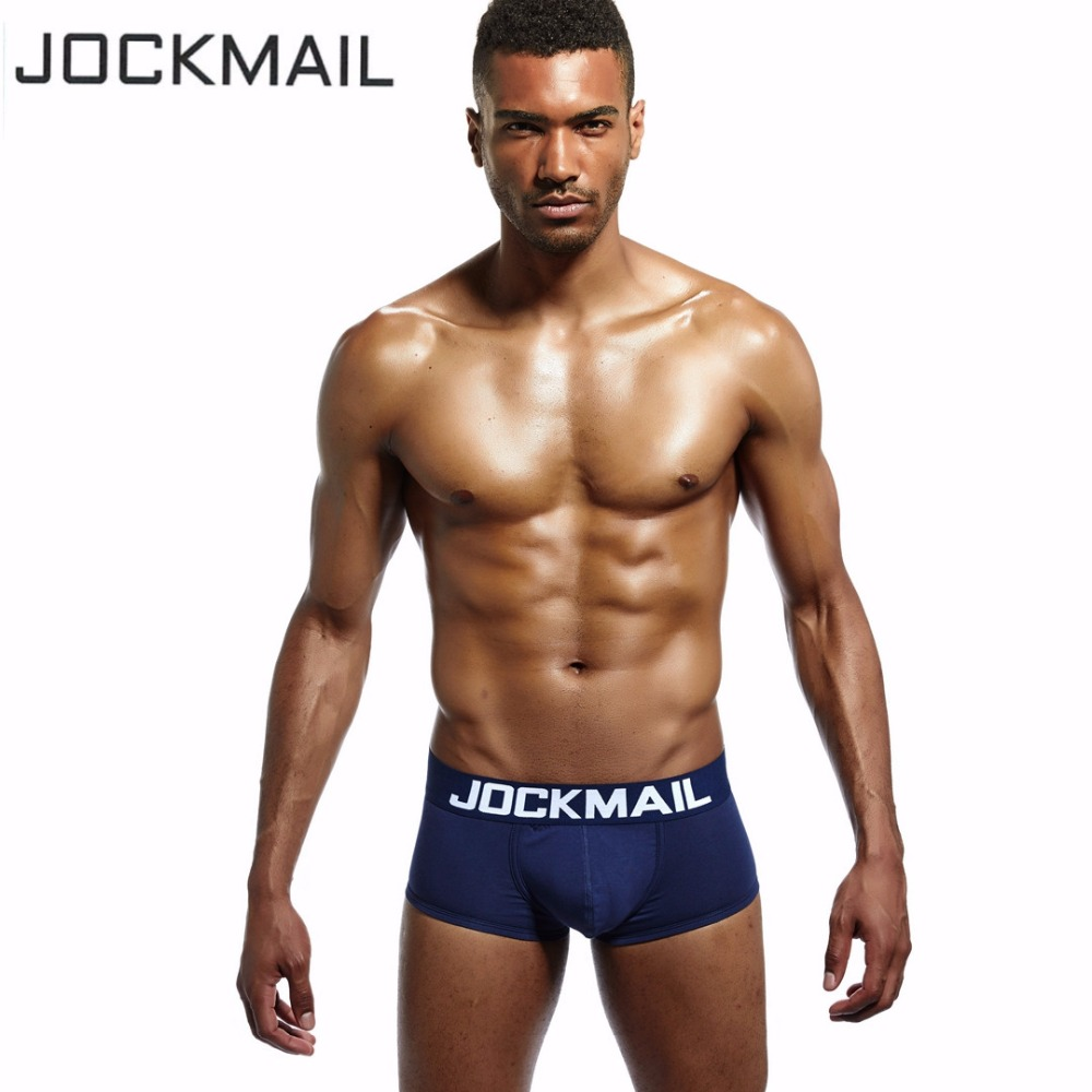 JOCKMAIL Brand 3 PCS Men Underwear Boxer high quality Cotton cueca boxer men short trunks Sexy calzoncillos hombre Gay panties