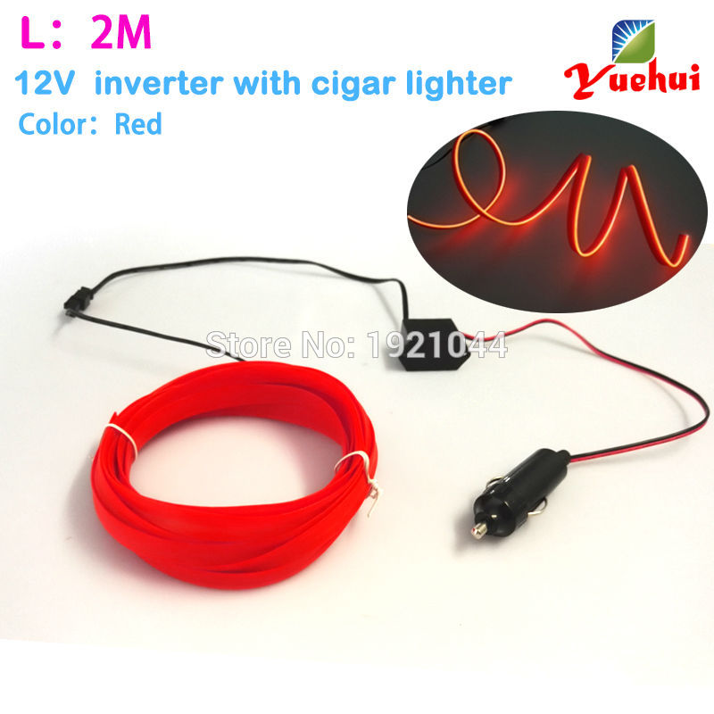 Ξ2Meters 2.3mm-Skirt EL Wire 12V Steady On Driver Energy Saving Cars ...