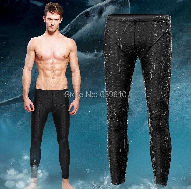 Men Swimwear Swimming Suit Shark Skin Sharkskin Pants Swimming Long Jammers For Men