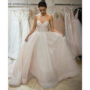 aaf586ffed Sparkle boda vestidos de novia brillante falda capas vestido de novia 2019  nuevo hecho a la medida