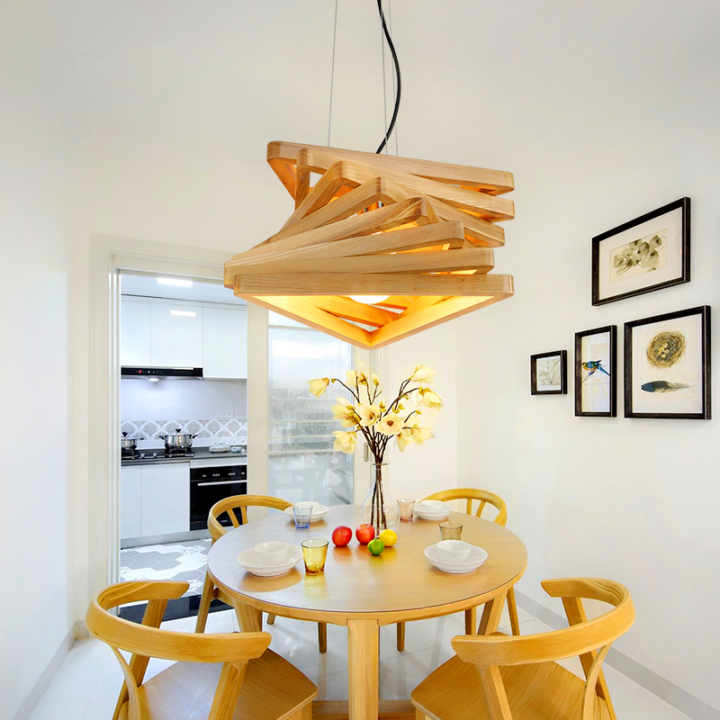 Nordic modern simple hanging lights American pastoral creative living room bedroom restaurant wooden Pendant Lights chinese style classical wooden sheepskin pendant light living room lights bedroom lamp restaurant lamp restaurant lights
