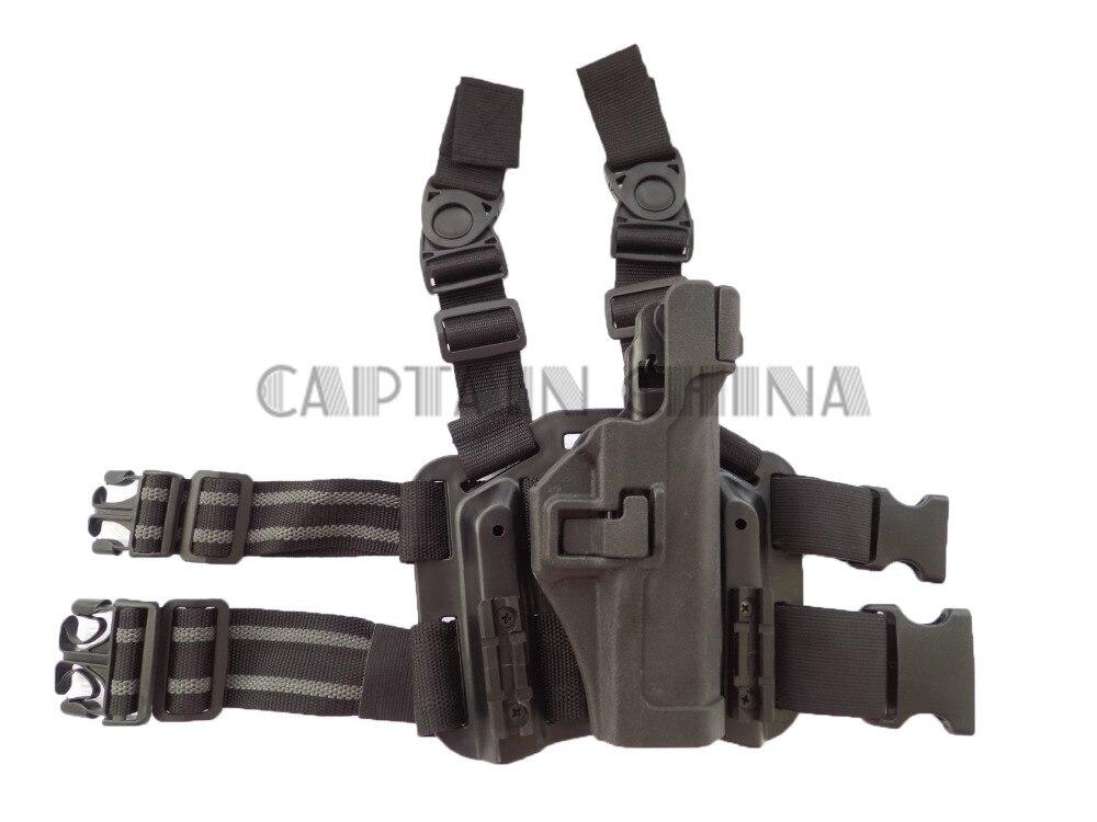 Glock 17 19 23 32 36 Muslo Pistolera del arma de La Caza accesorios Negro Milita