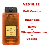 V2018.12 For BMW E serial /F serial Scanner II Full Version for BMW Diagnosis + IMMO + Mileage Correction + Coding E F Scanner