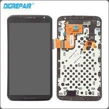 Negro Para Google Motorola Moto Nexus 6 XT1100 LCD Pantalla Táctil Digitalizador Asamblea con Marco Bisel Asamblea Reemplazos