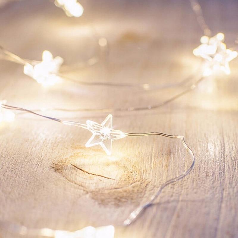 LemonBest LED Star Copper Wire String Lights LED Fairy Lights Christmas Wedding decoration Lights Battery Operate twinkle lights