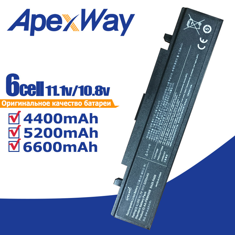 ApexWay Laptop Battery 355V5C for SamSung RC530 NP355E5X NP355E7X NP355V4C NT355V4C NT355V5C NP355V5C <font><b>NP550P5C</b></font> NP550P7C NP300E5A image