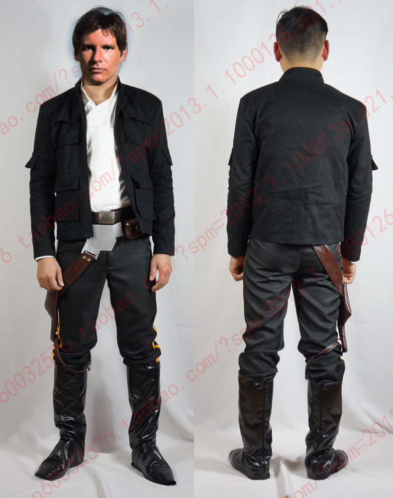 Star Wars ANH A New Hope Han Solo Cosplay Costume woth shoe covers