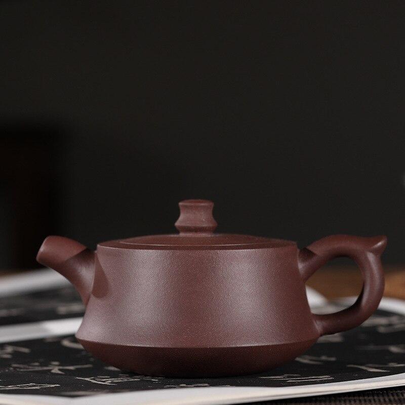 Faire du minerai brut encre pourpre pour l'impression de joints plinthe bouilloire Infusion de thé bouilloire Kungfu en ligne théière ensemble de thé cadeau costume