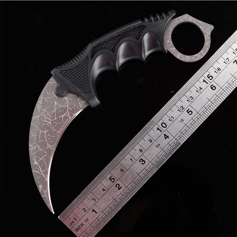 CS gitmek taktik sabit bıçak bıçak Karambit mücadele cep avcılık kamp boyun pençe bıçak yardımcı açık hayatta kalma çok araçları