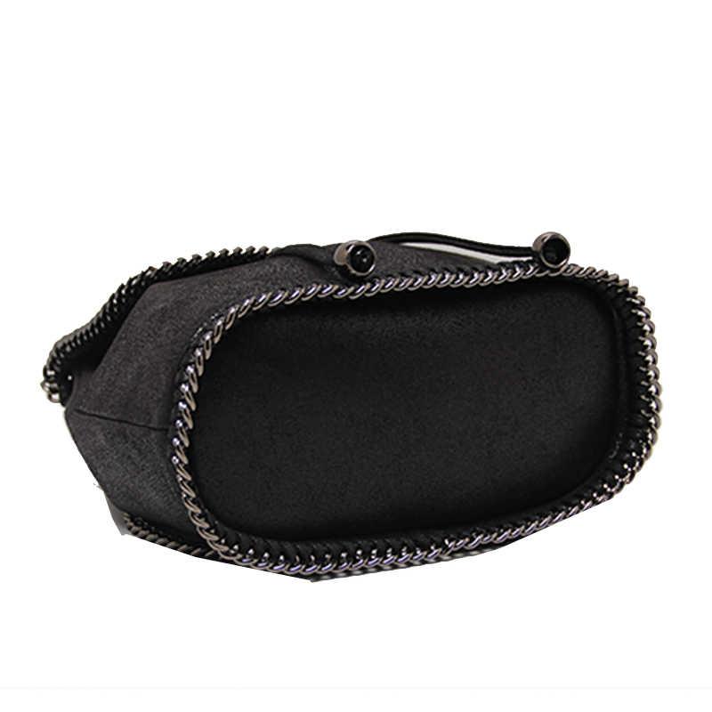 Mochila das Mulheres de luxo Designer de Marca Famosa de Bombeamento cordão Mochila Casuais bolsa de viagem Bolsa de Ombro Cadeia Alça da mala Preta