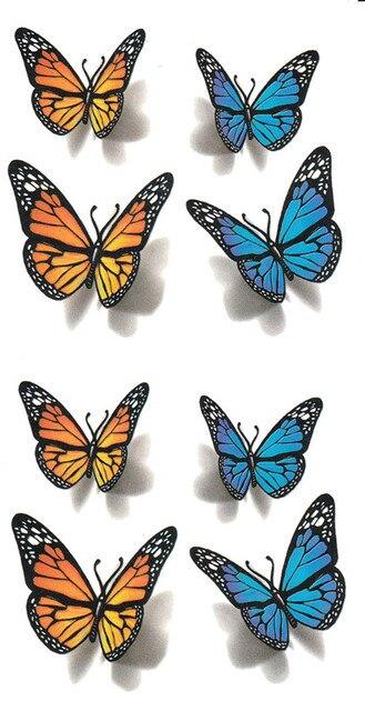 papillon bleu tatouage images galleries with a bite. Black Bedroom Furniture Sets. Home Design Ideas