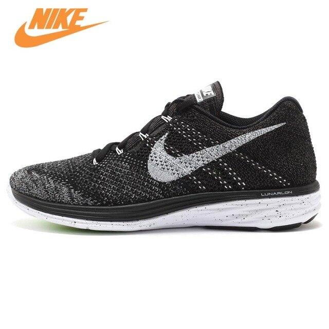 Amazing Nike Flyknit Lunar 3 Black Running Shoes