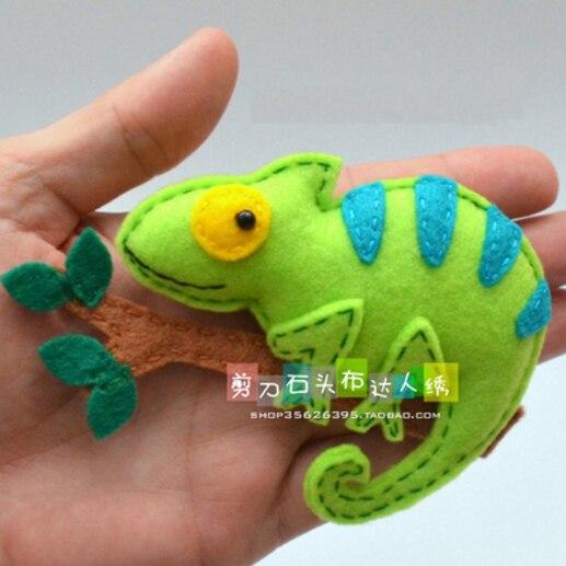 Pequeno boneca animal Sentiu kit conjunto De Costura Feltro Não-tecido de pano Artesanato DIY Handwork DIY Material de costura suprimentos