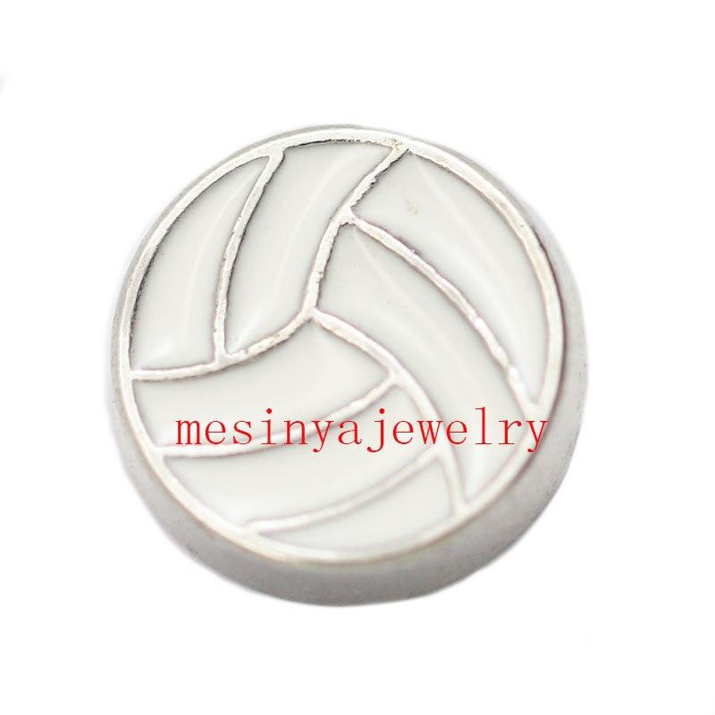 d0636c9bc2 10 pcs voleibol encantos flutuantes para medalhão de vidro Min ascender us   15 por itens de ordem misturada