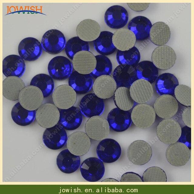 Wholesale 200 gross   bag SS16 Korean Cobalt Crystals Stones Iron FlatBack Hot  Fix Strass Crystal Hotfix Rhinestone for Clothes 531b96c90736