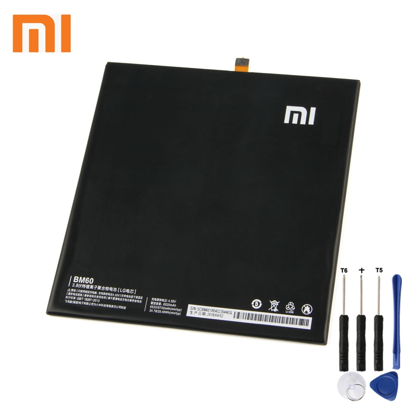 Xiao Mi Xiaomi BM60 Phone Battery For mi Mipad 1 A0101 6700mAh Original Replacement + Tool