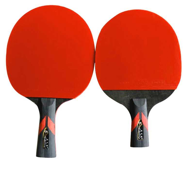 Professional carbon fiber table tennis racket with two face pimple-in table tennis rubber pure wood ping pong racket with a case