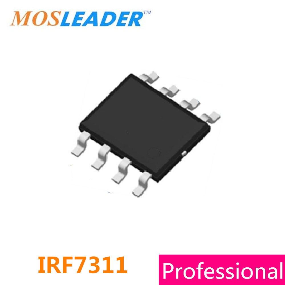 Mosleader IRF7311 SOP8 100PCS 1000PCS 20V 6.6A Dual N-Channel IRF7311TRPBF IRF7311TR High quality цена