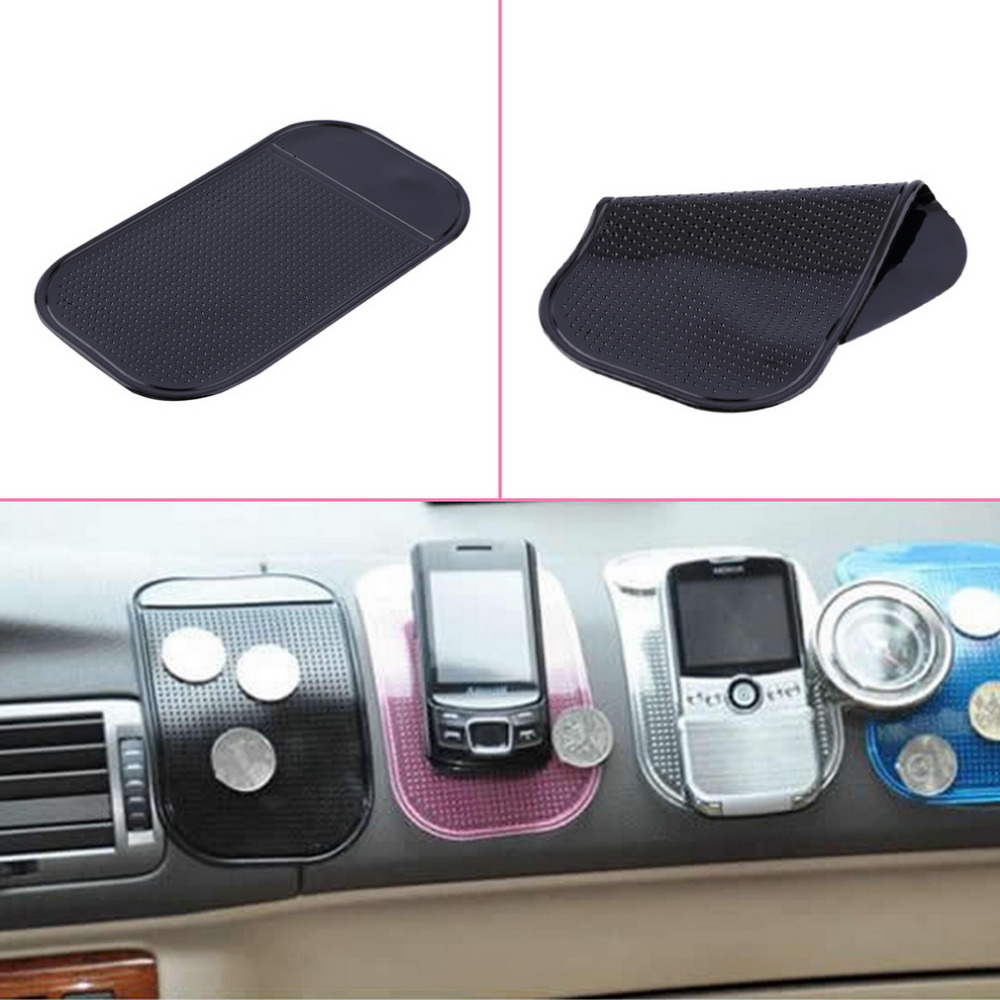 2018 Newly Black Car Pad Silicone Car Dashboard Sticky Pad Magic Anti-Slip Non-Slip Mat for iPod Phone MP4 Car Decoraion