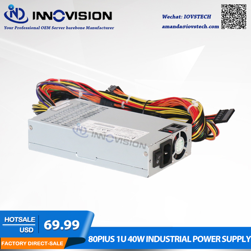 1U PSU Rated 400W industrial Power Supply for 1U server