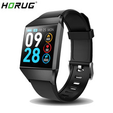HORUG Sports Smart Bracelet IP67 Waterproof Fitness Tracker Color Screen Wristband Heart Rate Monitor Pedometer Watch