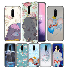 Cartoon Animation Dumbo Soft Black Silicone Case Cover for OnePlus 6 6T 7 Pro 5G Ultra-thin TPU Phone Back Protective