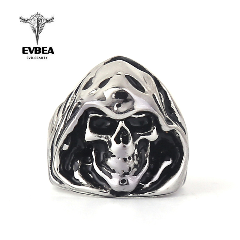 EVBEA Steel Soldier Punk Biker Men's Titanium Stainless Steel Ring Multi Rock Lots Skull Ring For Men Ring Jewelry