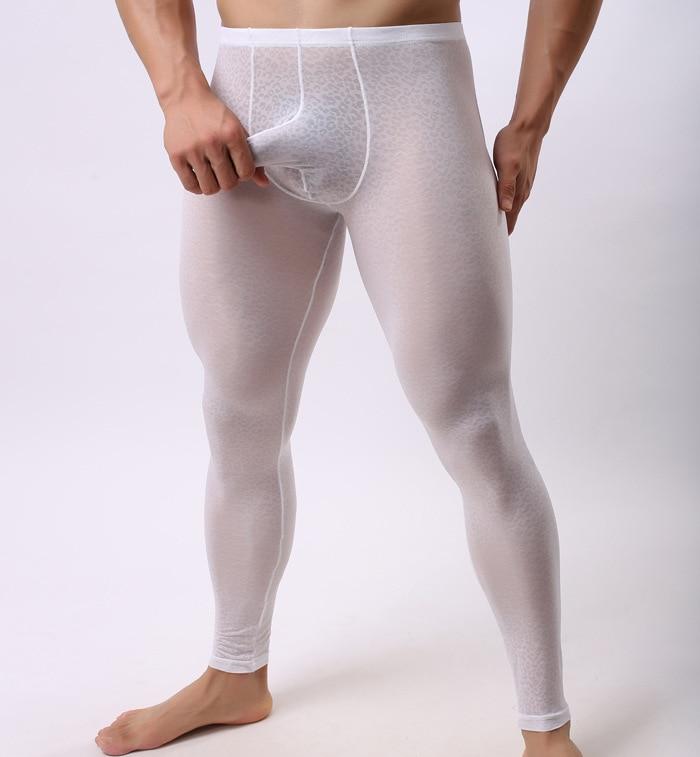 Men's Trousers Lace Jacquard Transparent Wearing Leggings ...