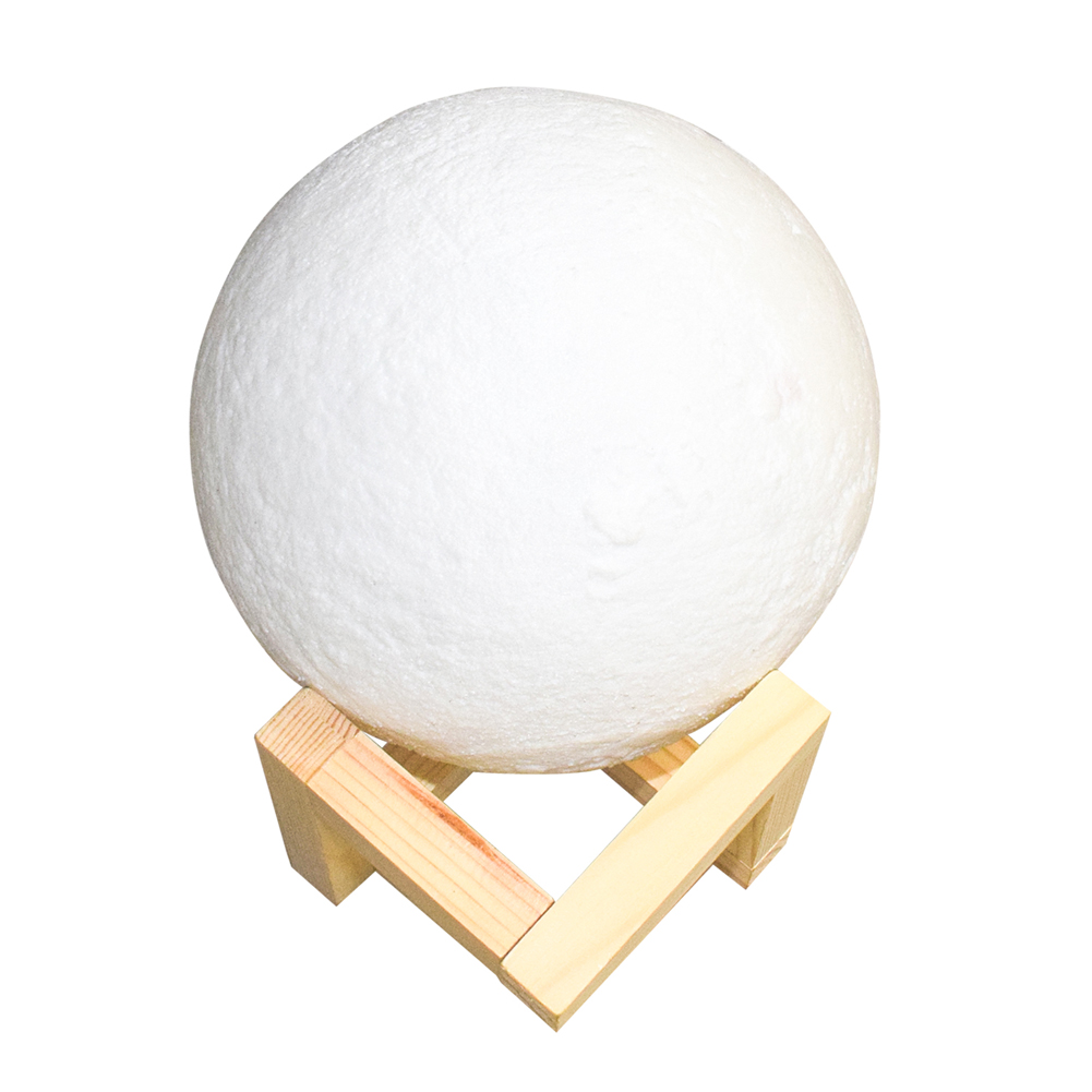 8-20cm 3D lunar Body LED Light Moon Night Moonlight Gift Touch Sensor Color Changing Ivory White Light